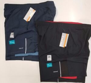 """SKORA 7/"""" Men/'s Athletic Woven Stretch Shorts with Built-In-Compression NEW RARE"""