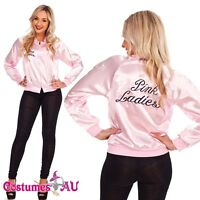 Ladies Grease Pink Lady Satin Jacket 50's 1950's Costume 50s Embroidery Letter