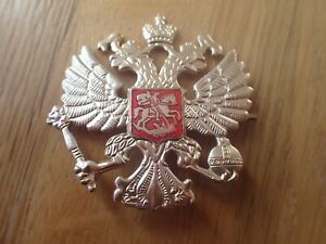 Russian-Military-Army-Imperial-Two-Headed-Eagle-Crest-Hat-Pin-Badge-KOKARDA