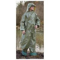 Brand Military Issue Rain Suit - Poncho & Rain Pants - Olive Drab Green