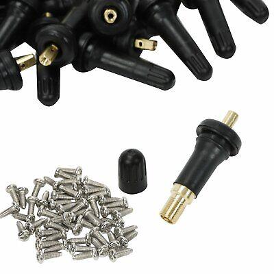 100X New TPMS Valve Stem Rebuild Kit Tire Pressure Sensors For GMC Acadia Savana
