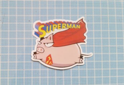 Super Pig Superman Luggage Car Skateboard Laptop Scooter Vinyl Decal Sticker