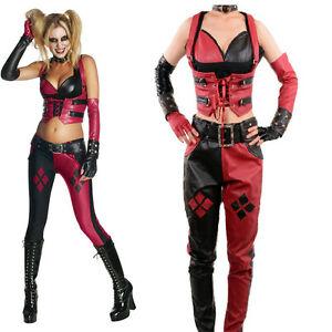 d1c7115e504c Image is loading Harley-Quinn-Costume-Adult-Batman-Arkham-City-Cosplay-
