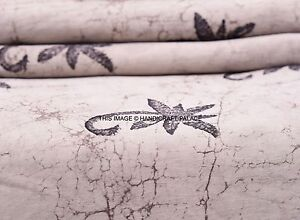 2-5-Yard-100-Cotton-Fabric-Hand-Block-Print-Sanganeri-Tie-Dye-Dress-Sewing-Boho