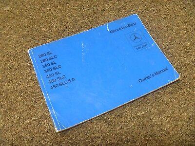 1976 Mercedes Benz 450sl 450slc 5 0 Owner Manual User Guide Original Ebay