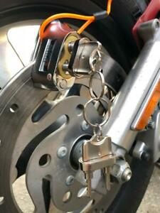 Anti-theft-Dual-Key-Motorbike-Motorcycle-Scooter-Disc-Brake-Loc-Reminder-cable