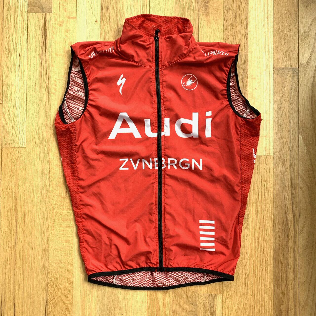 Castelli Audi Cycling Team Windstopper Vest (rot) - Größe S
