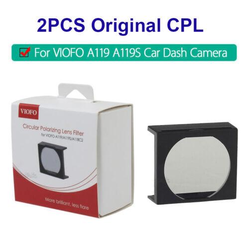 1 Pair Original CPL Filter Lens Cover For Viofo A119 A119S V2 A118C2 Vehicle DVR