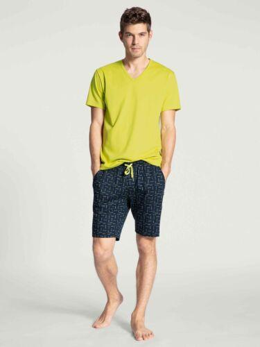 CALIDA Herren Kurz-Pyjama Casual Grafic Schlafanzug