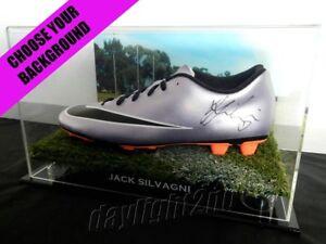 Signed-JACK-SILVAGNI-Football-Boot-PROOF-COA-Carlton-Blues-2019-Guernsey