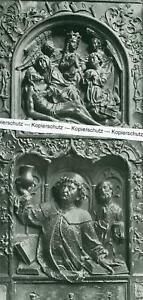 Landsberg am Lech : Pfarrkirche - Grabstein in der Kirche  - um 1920    T 2-14