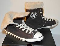$127 Converse Cuff Ct Dainty Xhi Morel Mole Brown Suede Sneakers Rare