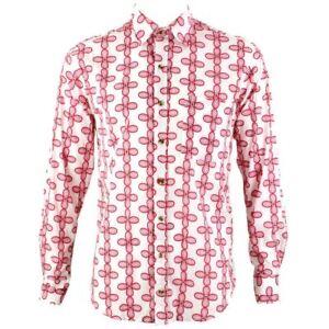 Hombre-Chillon-Camisa-Retro-Psicodelico-Festival-Fiesta-FUNKY-Floral-Rosa