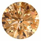 2.1 MM CERTIFIED Round Champagne Color VVS 100% Real Loose Natural Diamond #C