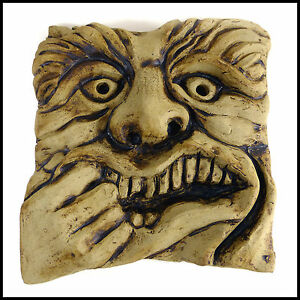 Toothache-Gargoyle-Wall-Plaque-Pottery-Design-Garden-Art-By-Zoo-Ceramics