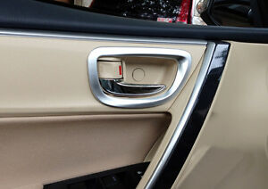 Matte Inner Side Door Handle Bowl Cover Trim 4pcs for Toyota Corolla 2014-2017