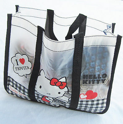 Women Girls Kids Hello Kitty Travel Beach Light Carry Tote Lunch box Bag Pouch