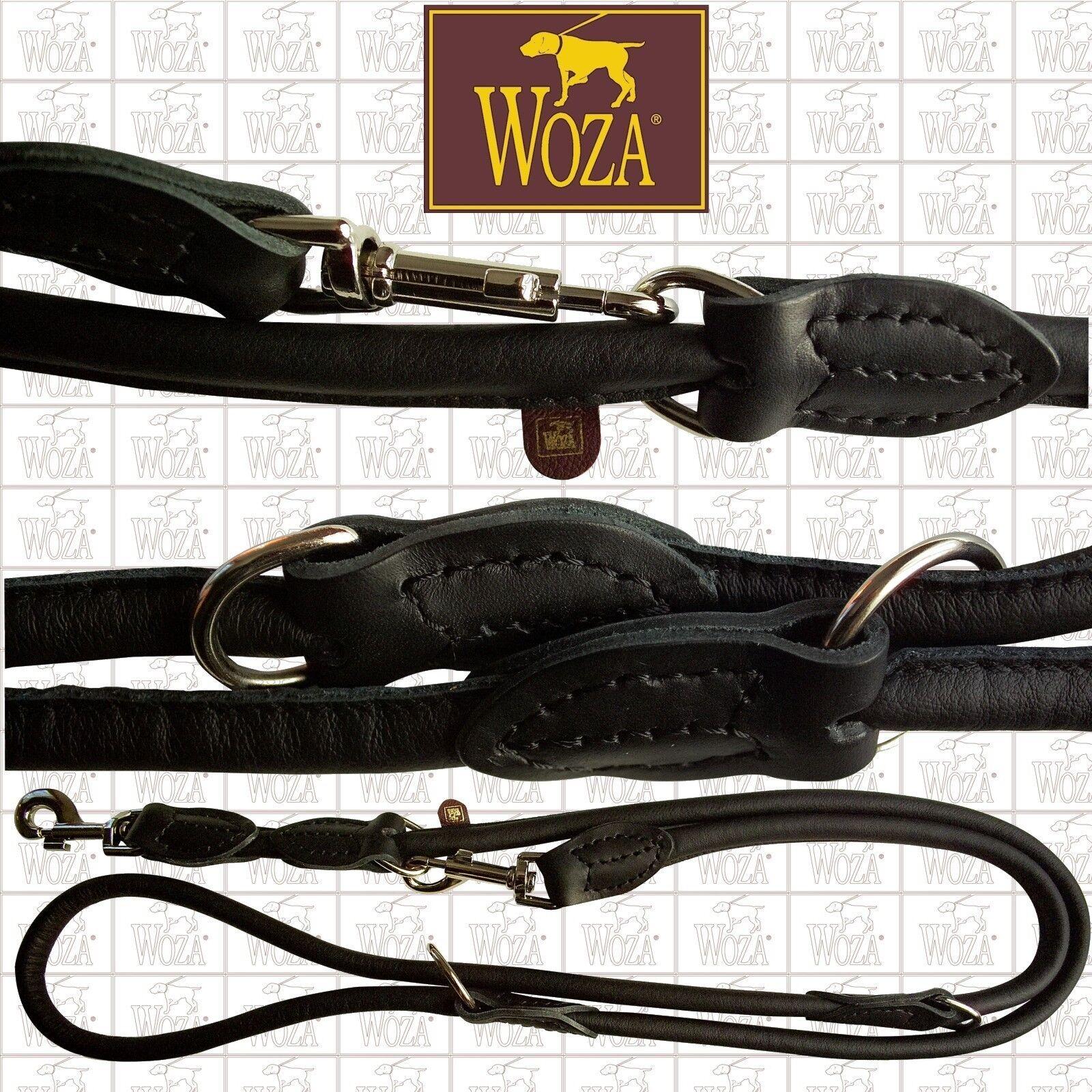 WOZA Rundgenähte Hundeleine Handgenäht Vollleder Lederleine Softrindnappa US1346  | Verkauf