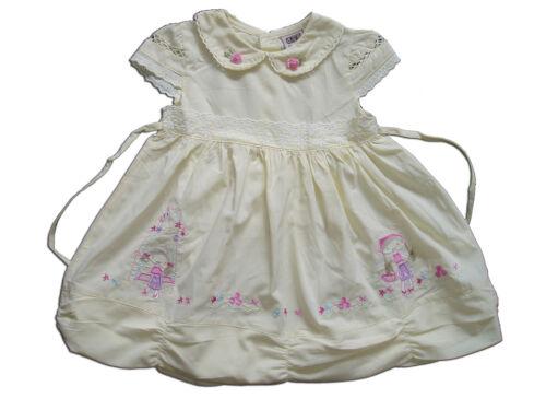 Bébé fille en coton robe de soirée rose jaune blanc 6 9 12 18 mois