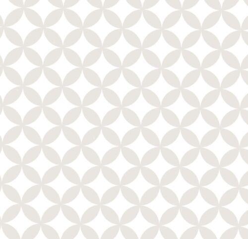 Statische Fensterfolie Elliott Rauten weiß 0,45m x 1,50 m Glasdekorfolie Retro