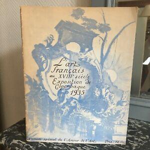 Revista EL AMOR ARTE en Francés A Eduardiano Siglo Exhibición Copenhague 1935