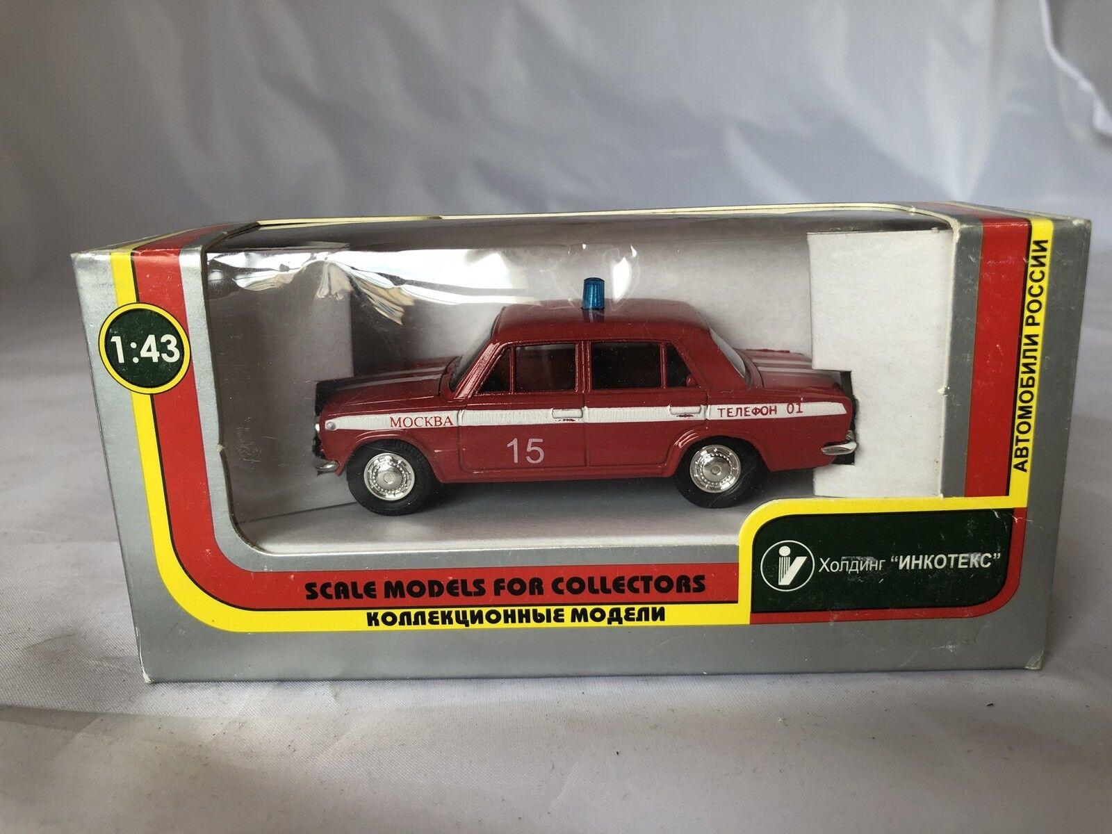 Car Model Lada Vaz BA3 2101 1 43 MOCCAP Made In CCCP. Fire Brigate 2010.Pompieri
