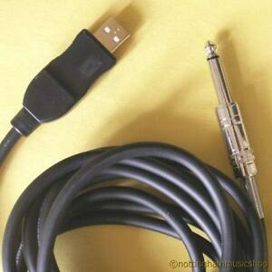electric guitar to pc cable lead usb windows or mac garage band etc ebay. Black Bedroom Furniture Sets. Home Design Ideas