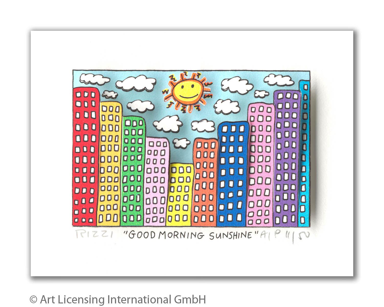 James Rizzi  GOOD MORNING SUNSHINE  - 3D Grafik - NEU