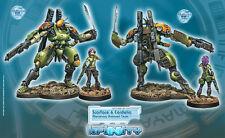 Infinity BNIB Mercenaries - Scarface & Cordelia. Armored Mercenary Team