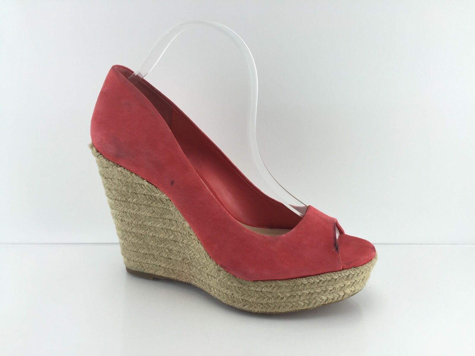 Vince Camuto Women's Red Suede Wedges 10 M