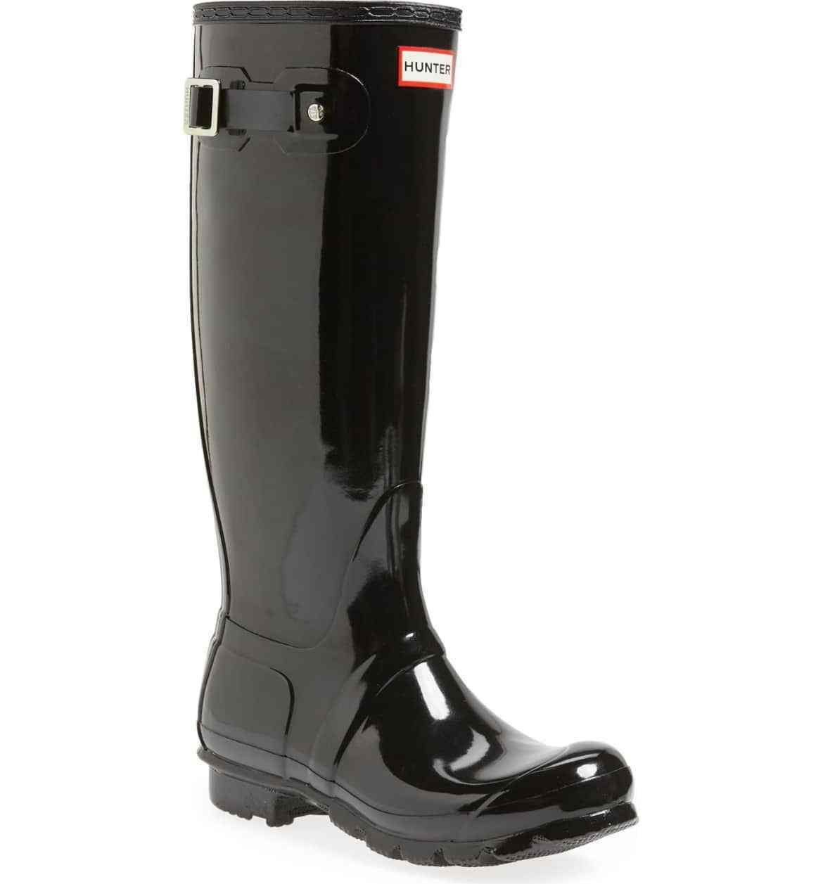 Hunter Women's Original High Gloss Waterproof Rain Boots Size Size Size 10 Black 2fb91c