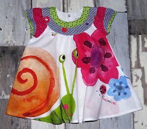 3ee1a766c9b09 Superbe robe blanche imprimée CATIMINI fille 3 mois comme neuve ...