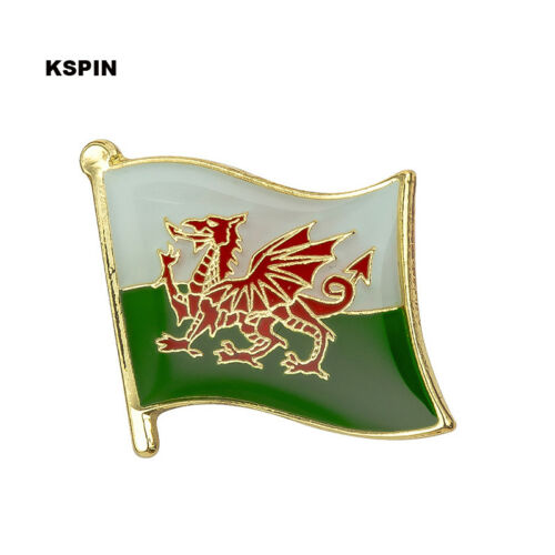 Wales Flag Lapel Pin 19 x 16mm Hat Tie Tack Badge Pin Free Shipping