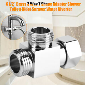 G1-2-034-Brass-3-Way-T-adapter-Angle-Valve-Diverter-for-Bath-Shower-Bidet-Sprayer