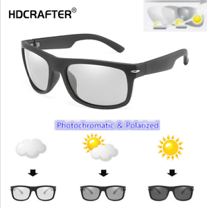 Men-039-s-Polarized-Photochromic-Sunglasses-Outdoor-Driving-Riding-Glasses-New-2019