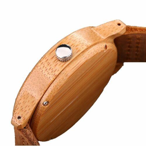 Uhr Japan Quarzuhr Bambus Holzuhr Herren /'S Quarzuhr D