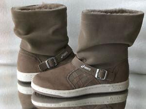 Details zu ASICS ONITSUKA TIGER MERIKI WINTER BOOTS Stiefel STIEFELETTEN GRAU NEU