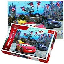Trefl 100 Piece Kids Boys Disney Pixar Cars London Race Jigsaw Puzzle NEW