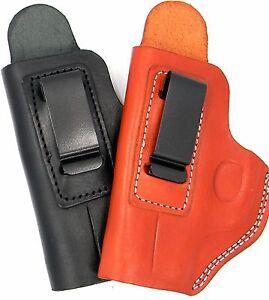 Cebeci-LEFT-HAND-IWB-Black-Brown-Leather-Holster-w-Comfort-Tab-CHOOSE-GUN
