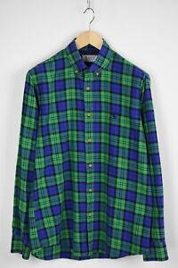 EL-GANSO-Men-039-s-UK-39-or-MEDIUM-Button-Down-Checked-Casual-Shirt-28986-JS