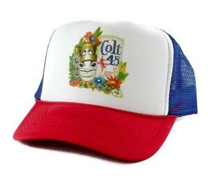 4125ea4a2e2 Vintage Colt 45 Malt Liquor beer Trucker Hat mesh hat snapback hat ...