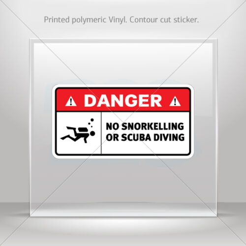 Decals Sticker No Snorkelling Or Scuba Diving Helmet durable st5 W8237