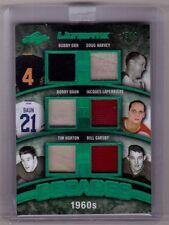 BOBBY ORR TIM HORTON BAUN HARVEY GADSBY 16/17 Leaf Ultimate 1960s Jersey #3/4 SP