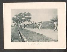 c 1900 photogravure- Scene on the Luneta Manila/Philippines soldiers people walk