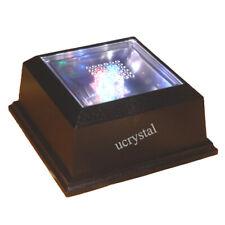 Delicate 3LED Light Crystal Figurine Display Stand Crystal Light Base OrnamentB$