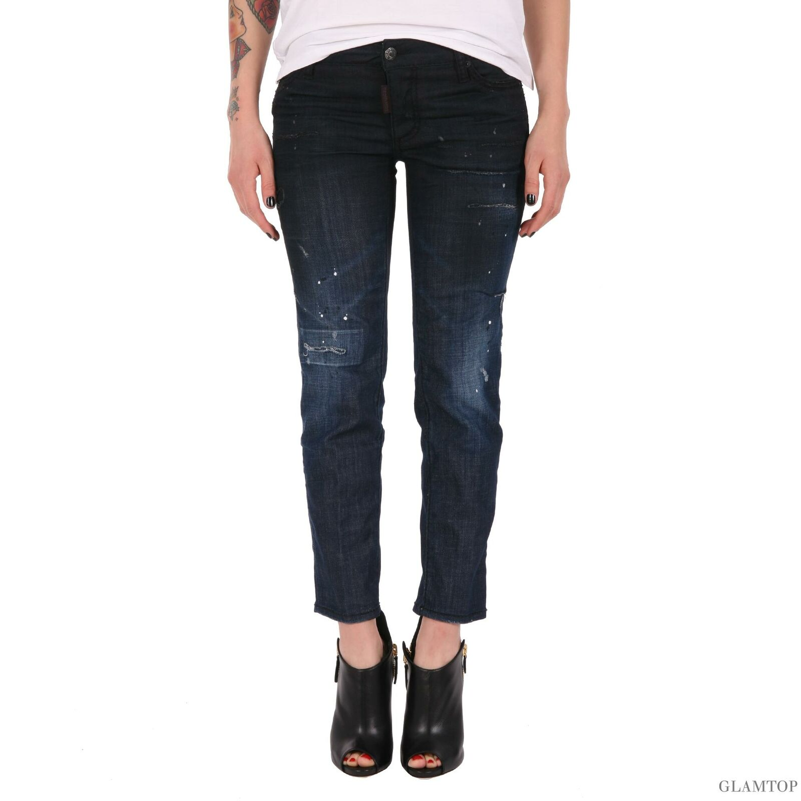 Bb6929 Dsquared2 women's bluee jeans trousers