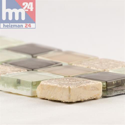 Mosaik Pulau Tuba Glas Naturstein Ornament Effekt Bordüre 29,5 x 7,5 x 0,8 cm