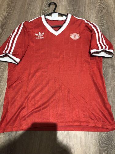 L Fußball-Trikots MANCHESTER UNITED ORIGINAL VINTAGE 1983/84 HOME SHIRT ADULTS Fußball-Trikots von ausländischen Vereinen