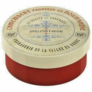 Ceramic-Camembert-Red Round Gourmet Cheese Baker w/ Lid-Oven Bakeware-No Cheese