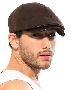 faf8e2da89e64 ililily Faux leather Flat Cap Vintage Cabbie Hat Gatsby Ivy Cap ...